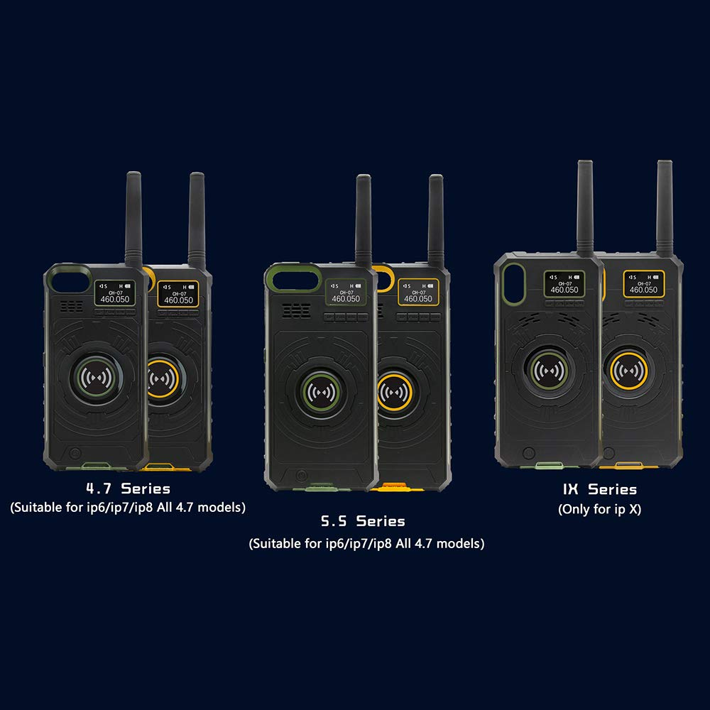Docooler BOXCHIP Outdoor Walkie Talkie 3-in-1 Multi-Function Intercom Power Bank Phone Case for iPhone X by Docooler (Image #4)