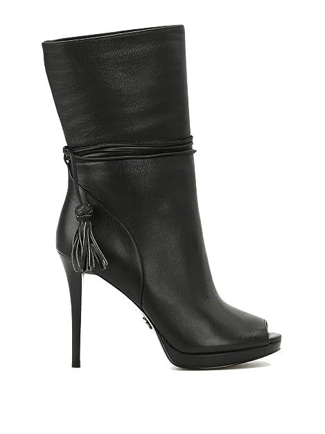 Michael By Michael Kors Mujer 40T7rohe5l001 Negro Cuero Botines: Amazon.es: Zapatos y complementos