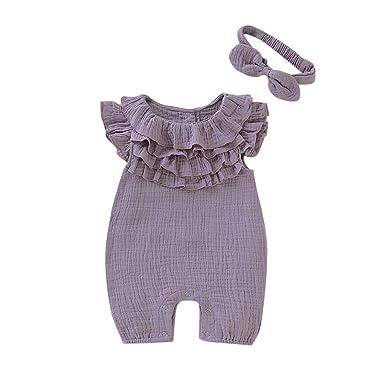 Kleinkind Kinder Mädchen Gestreiften Sommer Kleid Strampler Jumpsuit Overall