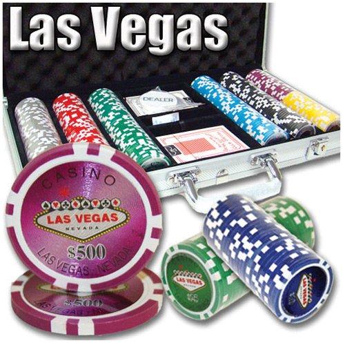 300 Ct Las Vegas 14 Gram Clay Poker Chip Set w/ Aluminum Case (Aluminum Chip Case 300)