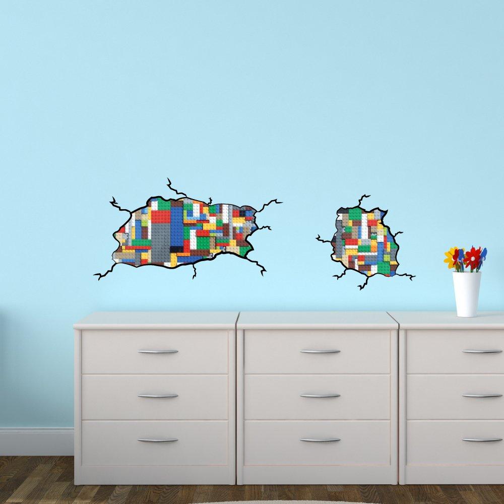 amazon com kids room decor lego inspired decal not associated amazon com kids room decor lego inspired decal not associated with lego brand home improvement