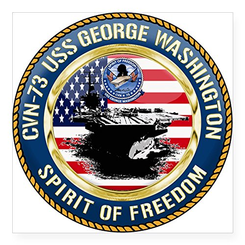 CafePress - CVN-73 USS George Washingto Square Sticker 3
