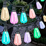 Gemmy AppLights 12-Light Multi-Color Edison Style Bulbs Set Indoor/Outdoor Lighting App Controlled