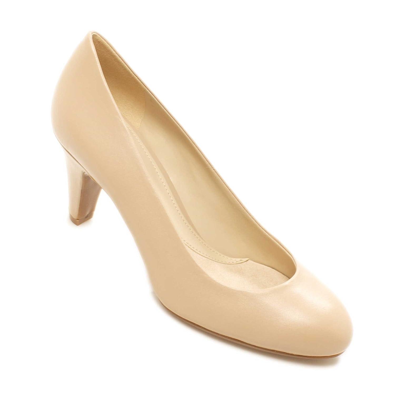 95118d67e28 Naturalizer Oribel Womens Comfortable Leather Mid Heel Pump Shoes - Size   8.5 AUS - Color  Taupe  Amazon.com.au  Fashion
