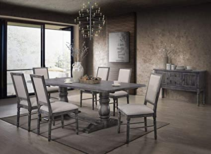 4aba14238afe Amazon.com - ACME Furniture Leventis Ii Dining Table, Weathered Gray ...