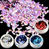 POYING 1g Rhombus Glitter Effect Nail Art Sparkly Paillette New Fashion Designs for Nail Art Decorations Powder Slice LS01-16