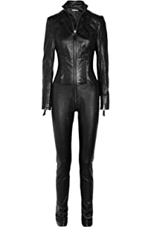 504c1908f69d Mariyam Leather Women Leather Jumpsuit 100% Lamskin Real Leather Catsuit  Leather Romper