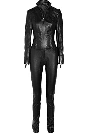 36362f5ff05 Mariyam Leather Women Leather Jumpsuit 100% Lamskin Real Leather Catsuit Leather  Romper at Amazon Women s Coats Shop