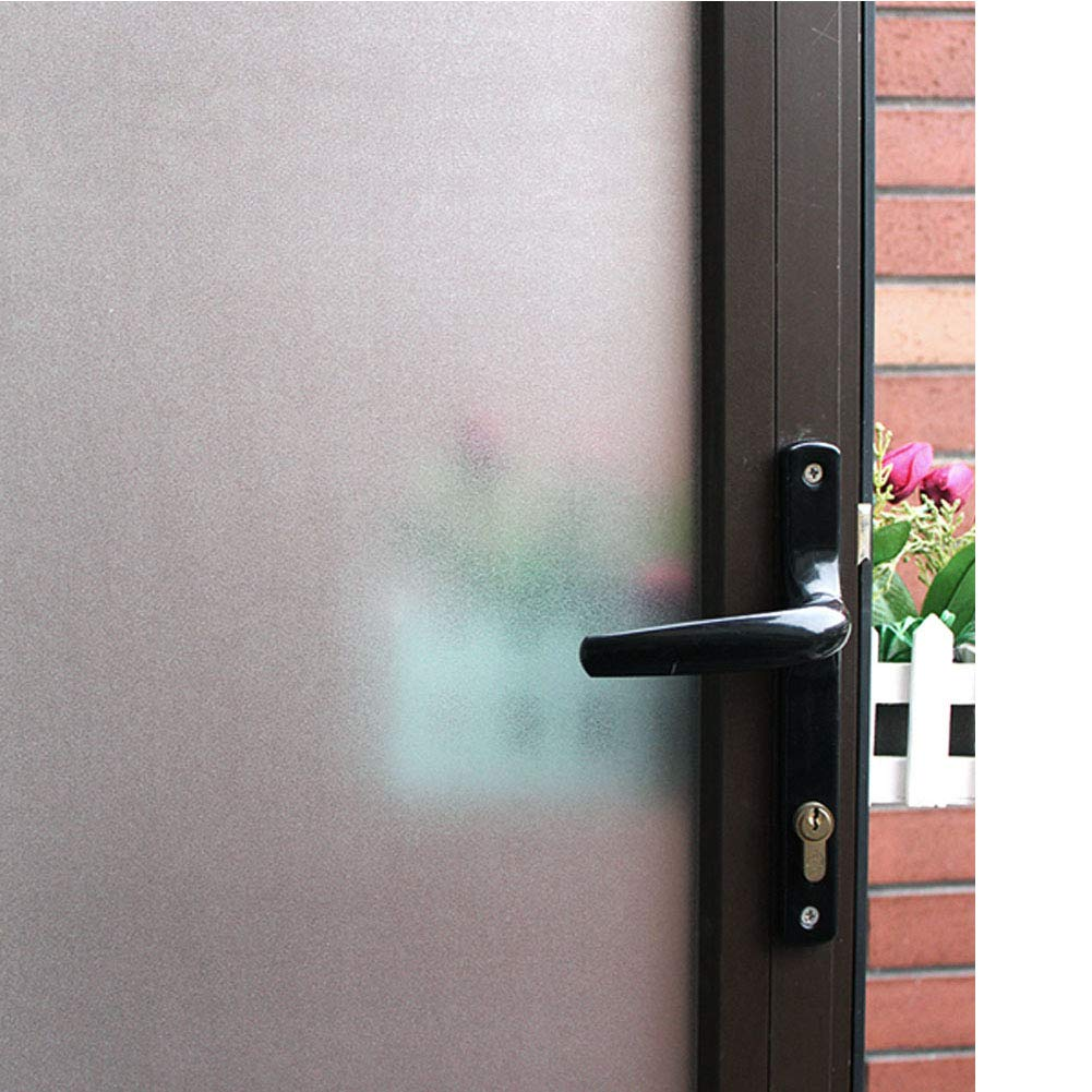 Mikomer Frosted Window Film,Privacy Door Film,Static Cling Glass Film,Removable/Stained Glass/Anti UV for Bathroom,Office,Meeting Room,Bedroom Security and Decoration,35In. by 78.7In.