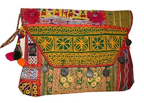 Tessuti Asiatici Tribali, Damen Clutch Merhfarbig