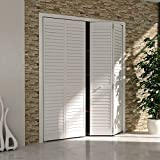 Closet Door, Bi-fold, Louver Louver Plantation White (32x80)