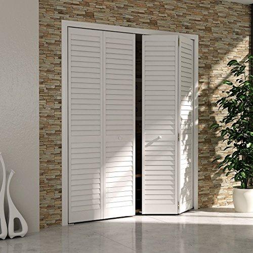 Closet Door, Bi Fold, Louver Louver Plantation White (32x80)
