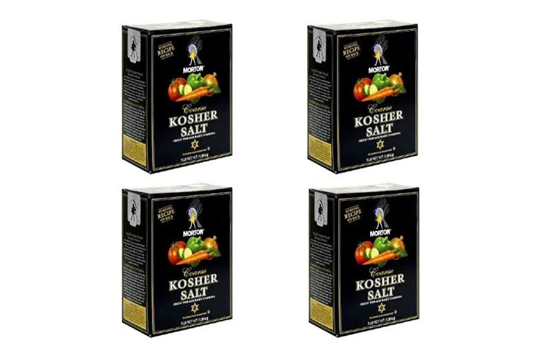 Morton Coarse Kosher Salt - 48 Ounces Box (4 Pack)