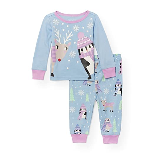 f2bd5546d Amazon.com  The Children s Place Baby Girls  Pajama Set  Clothing