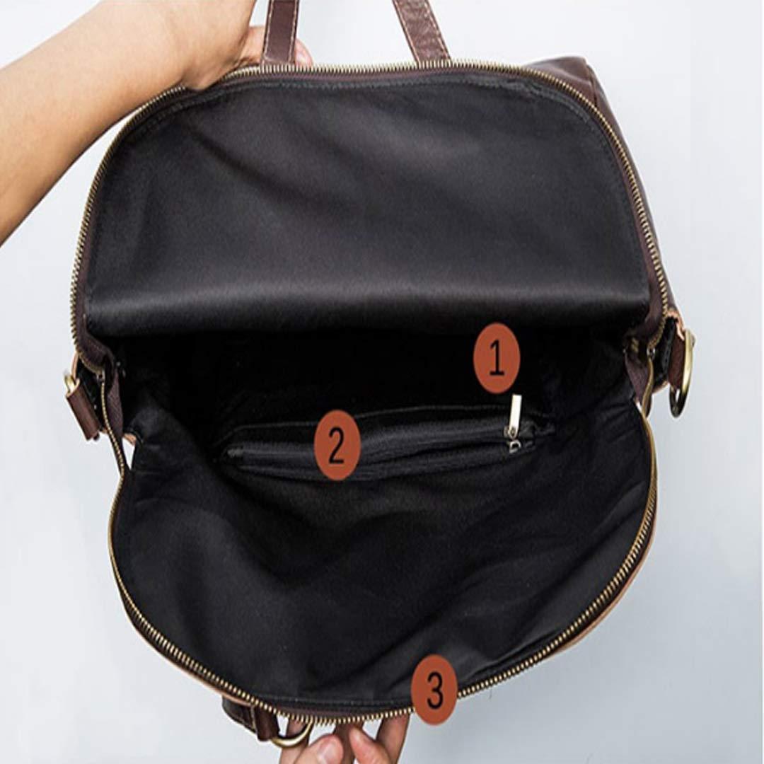 Color : Brown LBYMYB Mens Handbag Business Briefcase Leather Shoulder Bag Casual Messenger Bag Mens Bag 37x12x39cm Business Briefcase