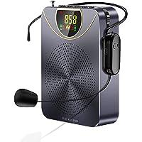 Kuchoow Amplificador voz para profesores Altavoz Bluetooth Proable con micrófono inalámbrico Auriculares Sistema de…