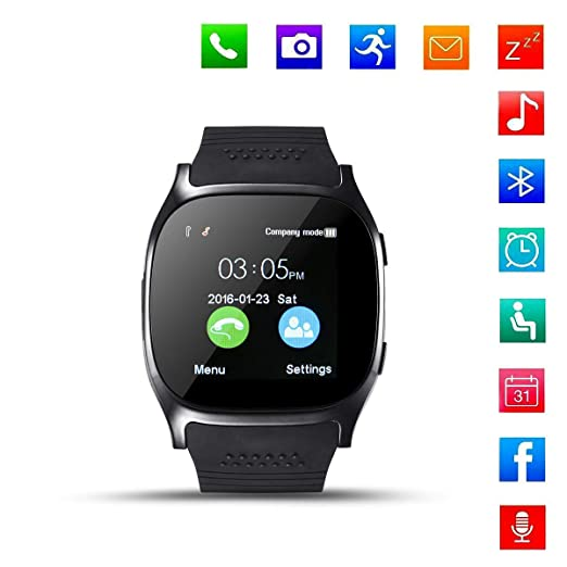 SanQing Smart Watch Bluetooth Watch con Ranura para Tarjeta SIM ...