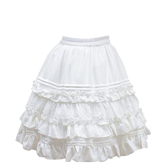 Cosplayitem Mujer Niñas Vestido Faldas Lolita Enagua Chifón Encaje ...