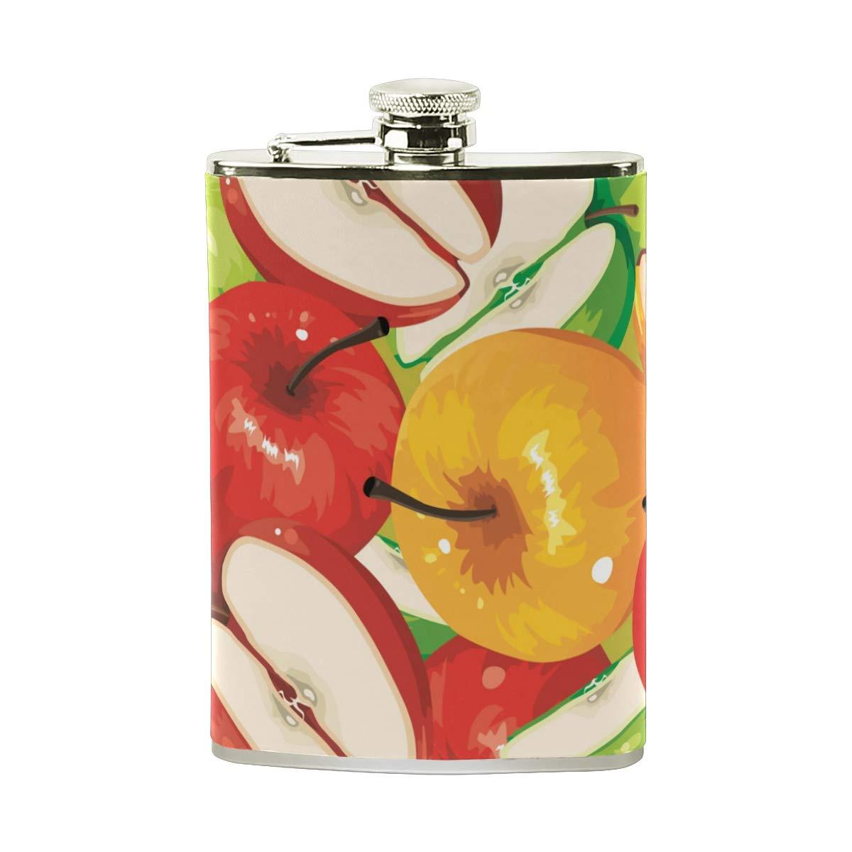 226,8/gram le camping cadeau pour homme ou femme Pot de vin poche Pichet Tizorax Huile comprenant Fruits pommes Flasque en acier inoxydable