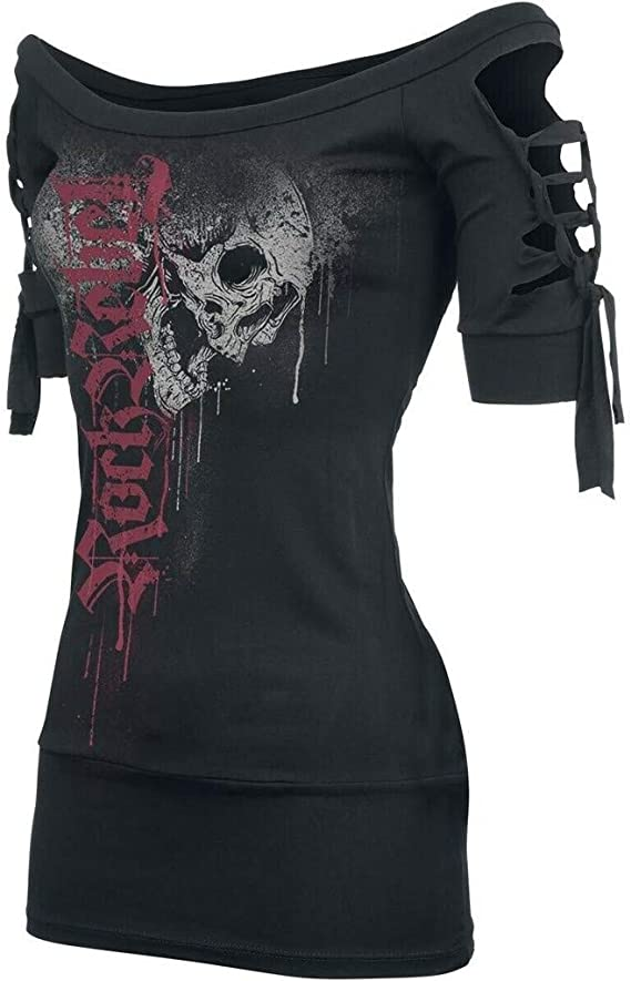Adult T-Shirt XL Awesome Skull Mushrooms ts/_310276 3dRose Heike K/öhnen Desing Fantasy