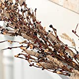 Factory Direct Craft Burgundy, Black and Tan Pip Berry and Burlap Garland for Holiday and Everyday Decorating