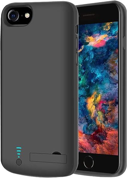 RUNSY Coque de batterie compatible avec iPhone SE 2020/8/7/6S / 6, 5500mAh rechargeable avec batterie étendue, étui de chargement de batterie externe, ...