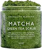 Matcha Green Tea Exfoliating Body Scrub - Multi Purpose Body and Facial Scrub Moisturizes and Nourishes Face and Skin - Reduce Inflammation - Great Gifts For Women - 10 oz - Brooklyn Botany