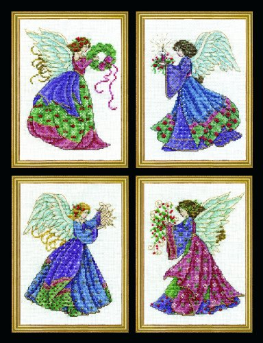 Design Works Four Christmas Angels Cross Stitch Kits