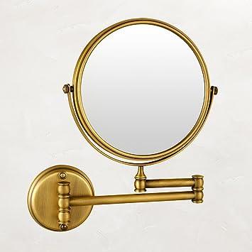 amazon de ysjz badezimmer antike schönheit spiegel wand  klappspiegel sind praktisch und schon #10