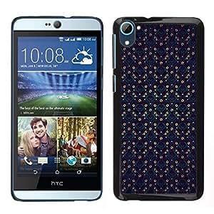 Caucho caso de Shell duro de la cubierta de accesorios de protección BY RAYDREAMMM - HTC Desire D826 - Patrón a cuadros azul del papel pintado