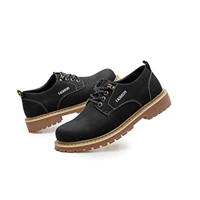 Shoes Mens Casual Shoes British Style Outdoor Athletic Shoes Driving Loafers (Color : Black Size : 38)