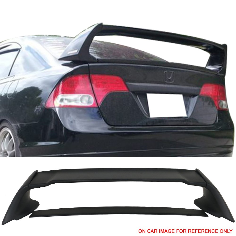Pre-painted Trunk Spoiler Fits 2004-2006 Acura TSX & 06-11 Civic | ABS Painted Matte Black Trunk Boot Lip Spoiler Wing Deck Lid Other Color Available By IKON MOTORSPORTS | 2005
