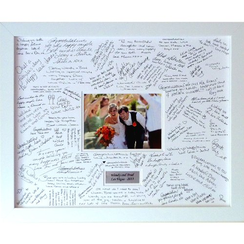 Wedding Guest Book Frames Personalised Large Contemporary