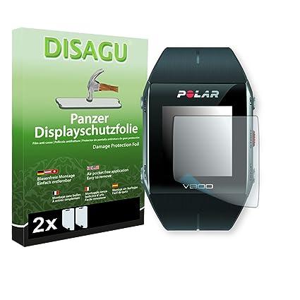 DISAGU 2 x Lámina blindada para pantallas Polar V800 contra roturas (Intencionadamente es más pequeña