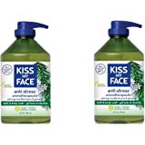 Kiss My Face Anti-Stress Shower Gel Bath and Body Wash, 32 Ounce, 2 Count