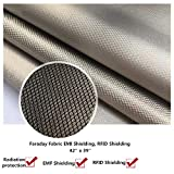 RFID EMF Shielding Nickel Copper Fabric,Emf Protection - Big Size - 39 X 42 inches - Radiation Protection - Block WiFi - EMF Shield - RFID - Anti Radiation(42'' x 39'')