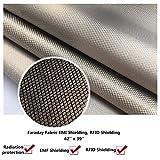 Emf Protection Fabric, Conductive Fabric, Faraday Fabric, Conductive Thread, Emf Protection Cell Phone, Emf Blocker, Emf Shielding, Anti Radiation, RFID Fabric, Rf Shield, WiFi Blocker (42'' x 36'')