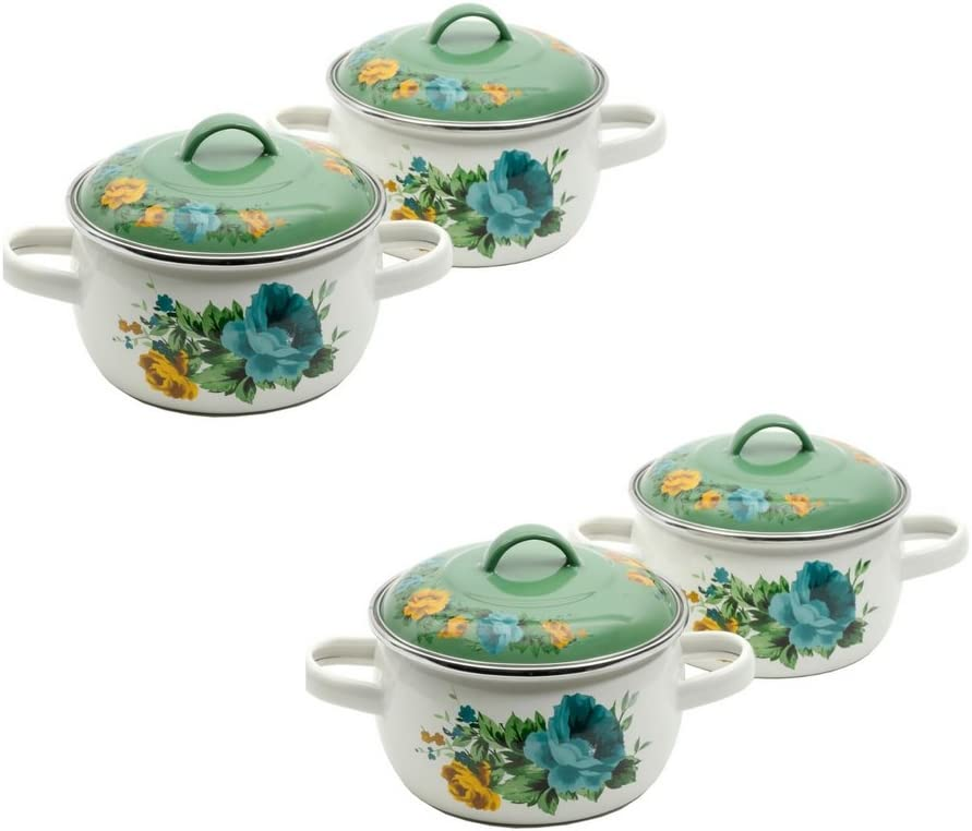 The Pioneer Woman ROSE SHADOW 2-pack MINI Dutch Oven Pan with Lids (2)