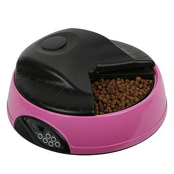 Cutepet Dispensador Automático De Comida Modelo Para Mascotas 4 Meals Para Perros Y Gatos,Pink: Amazon.es: Deportes y aire libre