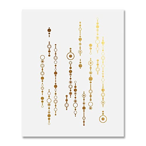 Amazon Com Strings Of Circles Gold Foil Geometric Wall
