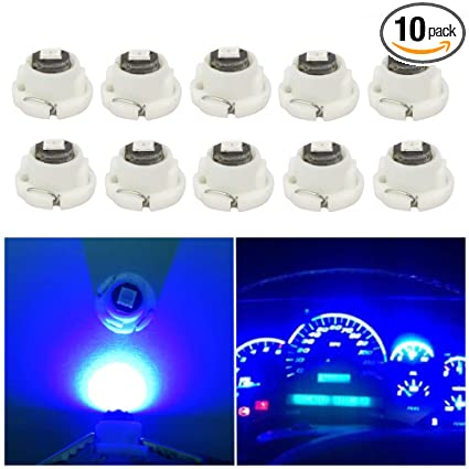 WLJH 10x Blue T4.7 Neo Wedge Led 3030SMD Chip 12mm Base Led Car Instrument