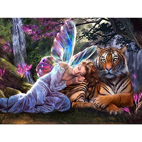 Full Drill 5D DIY Diamond Painting Butterfly Fairy Tiger 3D Embroidery set Cross Stitch Mosaic Decor gift