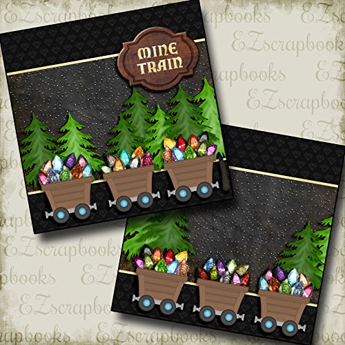 Mine Train NPM - Disney - Premade Scrapbook Pages - EZ Layout 2916