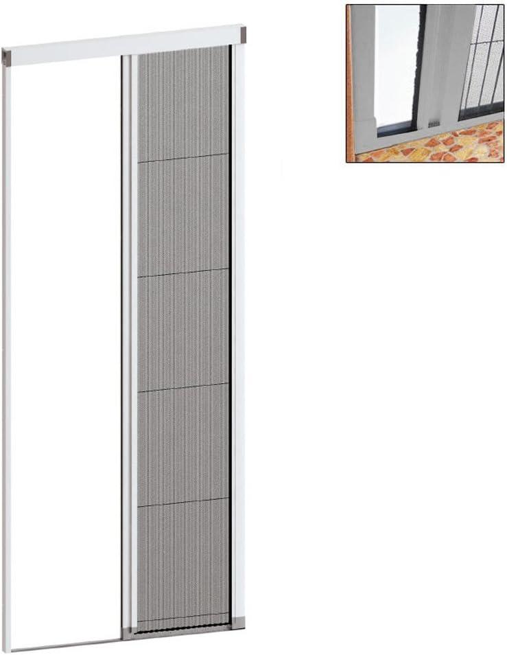 Mosquitera a plissè blanca 150 x 250 cm, con soporte para asegurar ...