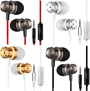 Earbuds,Earphones,Pasuwisma in-Ear Headphones Noise Isolating,Compatible with iPhone,iPod,iPad,MP3 Players,Samsung Galaxy,Nokia,HTC,etc 4pack (4, Engine)