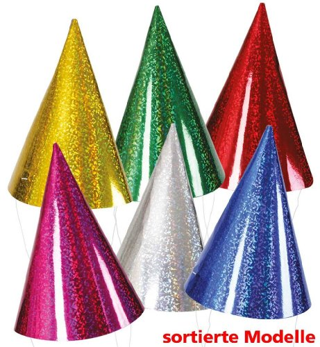Partyhut Party Hut sortiert verschiedene Farben