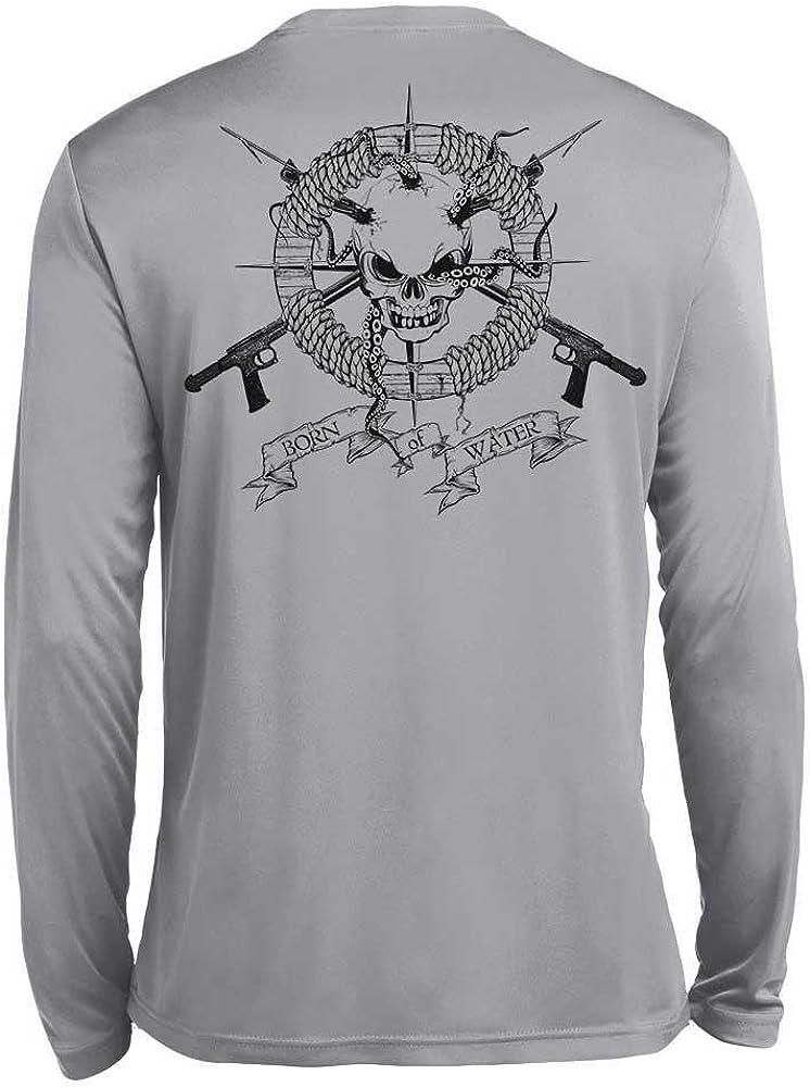 Camiseta de Pesca Submarina/Buceo: Camiseta Wicking de Rendimiento Manga Larga: Cráneo y Fusiles - 3XL: Amazon.es: Ropa y accesorios