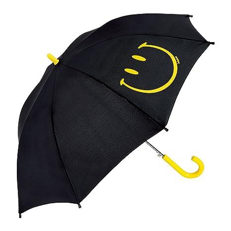 Smiley - Paraguas Infantil - Automático - Azul marino - Eyes & Mouth