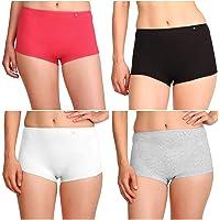 Jockey Women's Cotton Boy Leg Pack of 4 (SS04-0105-MULTI Colors)