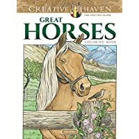 Creative Haven Great Horses Coloring Book (Creative Haven Coloring Books)